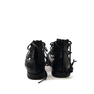 Sandalo gladiatore nero Mjus