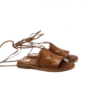 Sandalo alla schiava cuoio Mjus