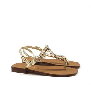 Sandalo infradito platino Nina Capri
