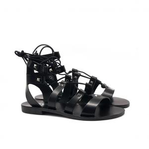 Sandalo gladiatore nero Keys