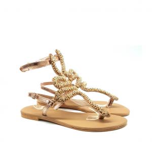 Sandalo rosegold con serpente Mosaic