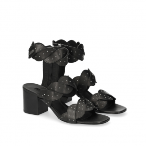 Sandalo nero con treccia Liu Jo