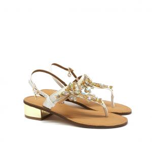 Sandalo bianco Gardini