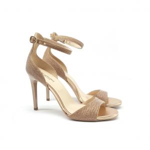 Sandalo cipria/glitter NeroGiardini