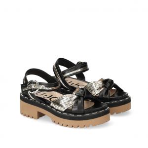 Sandalo nero/oro Liu Jo