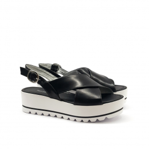 Sandalo platform nero NeroGiardini
