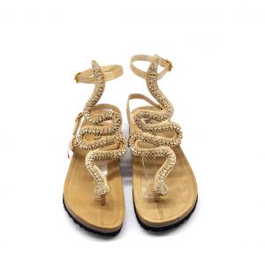 Sandalo platino con serpente Keys
