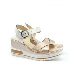 Sandalo saturn con zeppa NeroGiardini