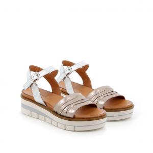 Sandalo peltro/argento Grunland