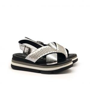 Sandalo platform argento Keys
