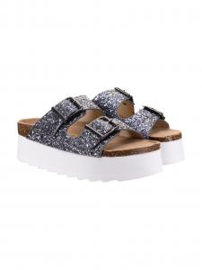 Colors Sandalo Glitter Argento