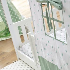Letto Montessori Moovie con tessile salvia