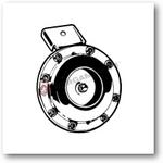 F100093100 CLACSON 12 V CORRENTE CONTINUA VESPA PK FL PIAGGIO