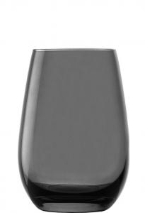 Set 6 bicchieri acqua in vetro cristallino grigio fumo ml 465