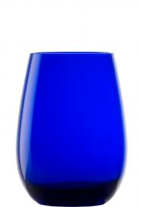 Set 6 bicchieri acqua in vetro cristallino blu cobalto ml 465