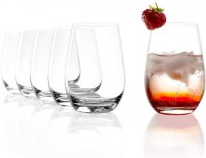 Set 6 bicchieri acqua in vetro cristallino trasparente Universum ml 465