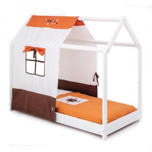 Letto Montessori Moovie con tessile wild orange