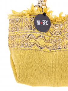 M-BRC  Borsa a Spalla tessuto giallo