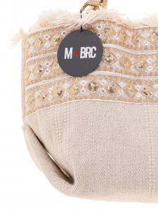 M-BRC  Borsa a Spalla tessuto Ecru