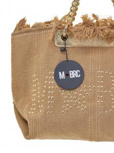 M-BRC  Borsa a mano in tessuto Camel