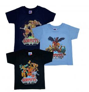 N. 3 T-shirt Gormiti taglia 4 anni Giochi Preziosi