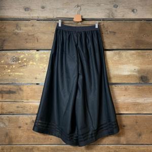 Pantalone Adidas a 3/4 in Nylon con Orlo in Trasparenza Nero