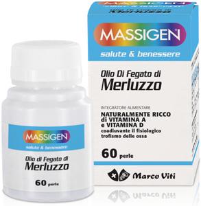 MASSIGEN OLIO FEGATO MERLUZZO 60 PERLE