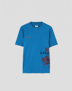SHOPPING ON LINE CP COMPANY T-SHIRT JERSEY MUTATED CAMO WRAP GRAPHIC NEW COLLECTION SPRING/SUMMER 2021