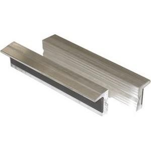 Ganasce magnetiche per morse mm 120 in alluminio con profilo neutro