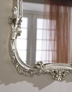 Klassischer Spiegel - Gold- oder Silberblatt