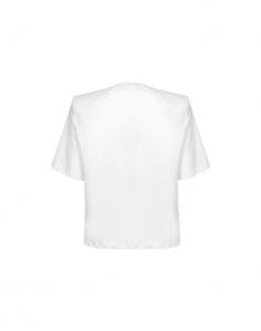 T-shirt in cotone bianca con spalline di Maria Vittoria Paolillo
