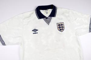 1990-92 Inghilterra #19 Gascoigne Maglia Home L (Top)