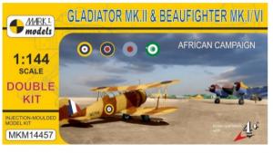 Gloster Gladiator Mk.II & Bristol Beaufighter