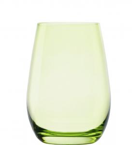 Set 6 bicchieri acqua in vetro cristallino Verde ml 465