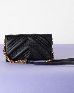 Love Wallet V Quilt Black Pinko SS21