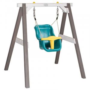 Altalena per bebè Swing Grigio/Bianco con seggiolino Turchese/giallo Axi Playhouse