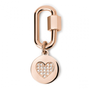 2Jewels Lucchetto Lock 'n' Chain - Ovale Cuore Pvd Rosé
