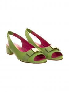 Le Babe Sandalo in Pelle Verde
