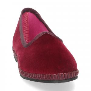 Le Babe Slipon friulane velluto rosso bordeaux-3