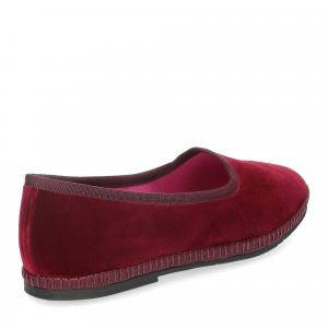 Le Babe Slipon friulane velluto rosso bordeaux-5