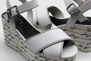 Liu Jo sandalo bianco con zeppa