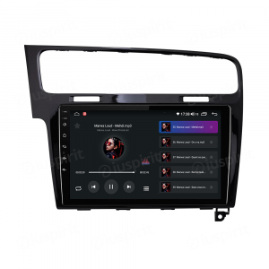ANDROID autoradio navigatore per VW Golf 7 2014-2020 CarPlay Android Auto GPS USB WI-FI Bluetooth 4G LTE Nero Lucido