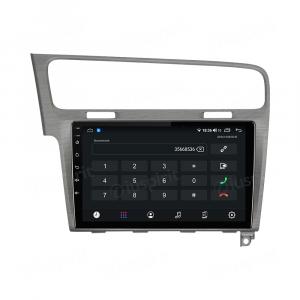 ANDROID autoradio navigatore per VW Golf 7 2014-2020 CarPlay Android Auto GPS USB WI-FI Bluetooth 4G LTE Grigio Satinato