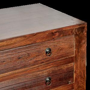 Porta TV in legno di palissandro indiano con 6 cassetti