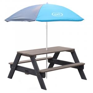 Tavolo da picnic Nick Axi Playhouse Antracite grigio con ombrellone Blue/Grigio