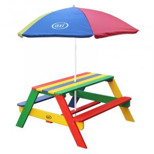 Tavolo da picnic Nick Axi Playhouse Arcobaleno con ombrellone