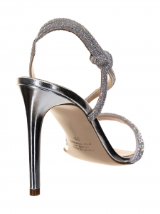 Ninalilou Sandalo in pelle Specchio Argento