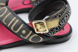 Liu Jo sandalo nero basso con glitter