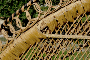 Poltrona vintage bambù e vimini