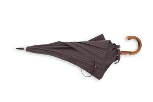 Ombrello artigianale Francesco Maglia Grigio melange riga Rosso bordeaux.